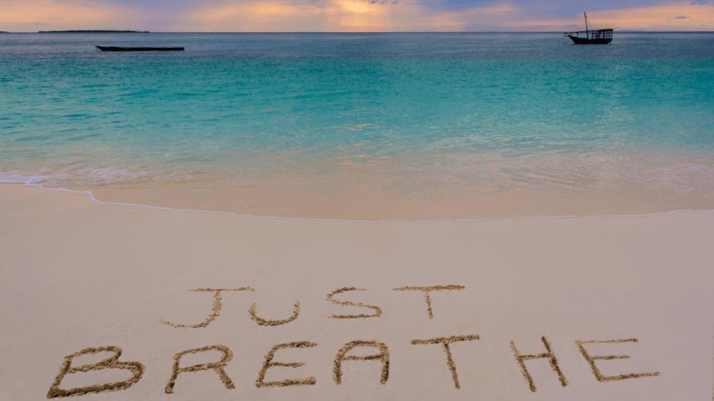 respire et prend du recul pour être épanouie