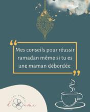 mes conseils pour réussir ramadan